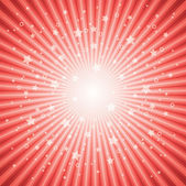 Vector abstract background of red star burst — Stock Vector
