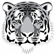 Vector tiger head — Stock Vector #10395223