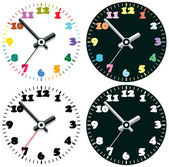 Vector set of colorful clocks — Stock Vector