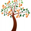 Stock Vector: Vector orange tree