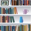 Vector modern bookshelf — Stock Vector