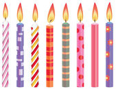 Vector set of colorful birthday candles — Stock Vector