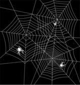 вектор пауков и тканей — Cтоковый вектор