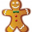 Stock Vector: Vector gingerbread cookie man