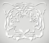 Vector paper tiger head — Stock Vector