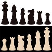 Pezzi degli scacchi vettoriale — Vettoriale Stock