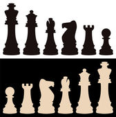 Vektor-schachfiguren — Stockvektor
