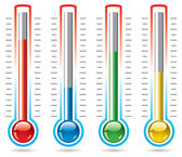 Vector thermometers — Stock Vector