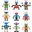 Stock Vector: Vector set of robots