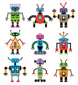 Vector set of robots — Stock Vector