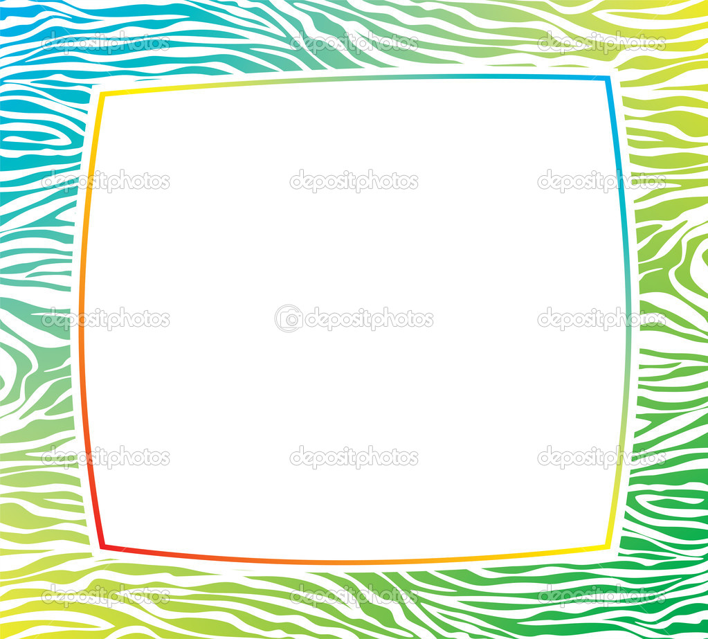 Vector colorful frame with abstract zebra skin texture and copy-space — Stock Vector #8383205