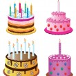 Vector birthday cakes - Stock Vector