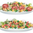 Vector vegetable salads — Vettoriale Stock #8492822