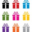 Vector set of colorful gift box symbols — 图库矢量图片