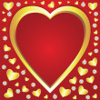 Vector valentine hearts — Vector de stock