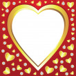 Vector valentine hearts and diamonds — Stock Vector