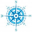 Vector blue compass — Stock Vector #8523944