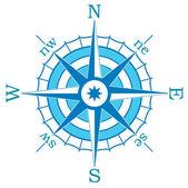 Vector blue compass — Stock Vector