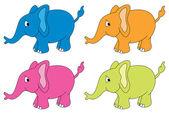 Słonie wektor — Wektor stockowy