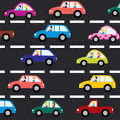 道路上でベクトル車 — ストックベクタ