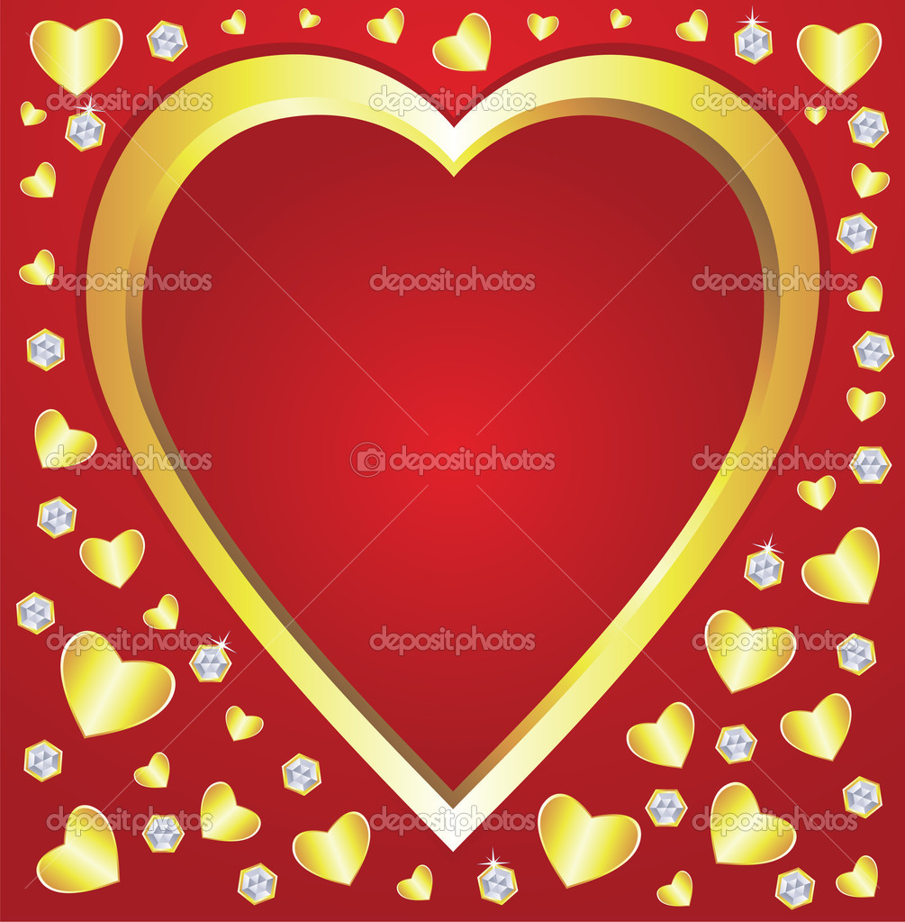 Vector valentine hearts and diamonds  Stock Vector #8523929