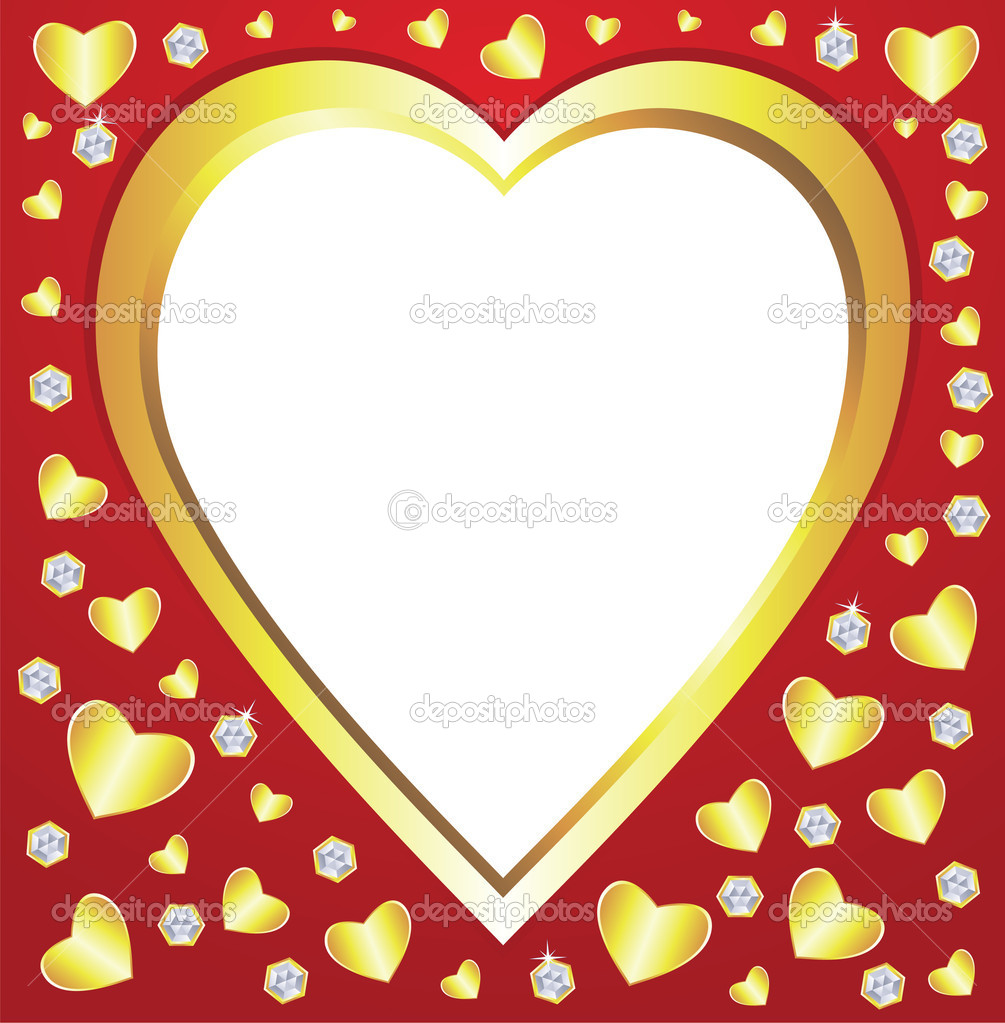 Vector valentine hearts and diamonds — Imagen vectorial #8523930