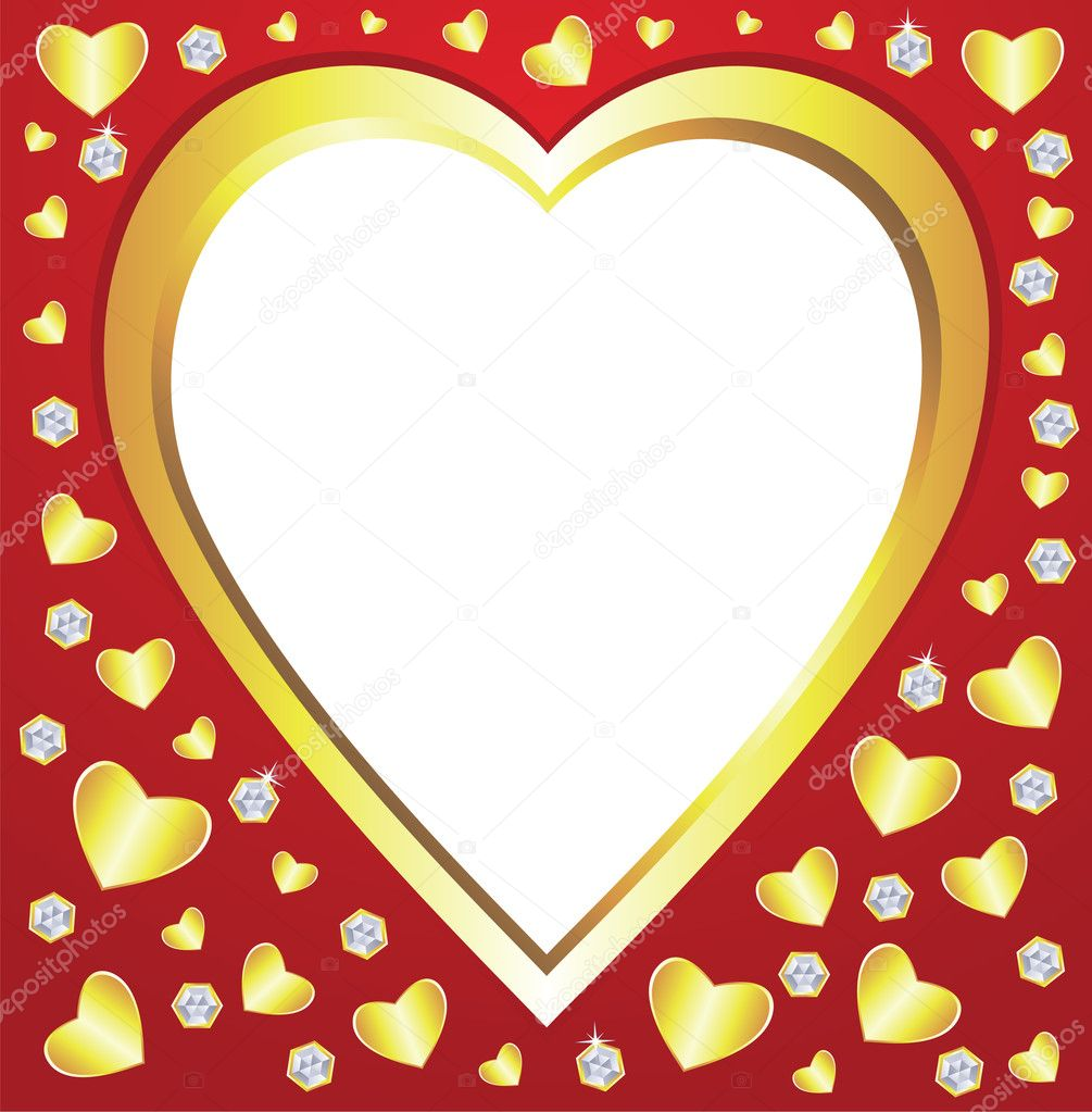 Vector valentine hearts and diamonds — Stock Vector #8523930