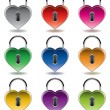 Vector colorful metal padlocks - Stock Vector