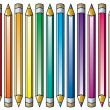 Vector colorful pencils — Stock Vector