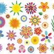 Stock Vector: Vector flowers set