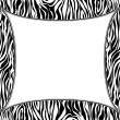 Vector frame with abstract zebra skin texture - Stock Vector