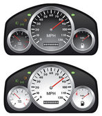 Vector car dashboards — Stock Vector