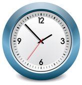 Reloj vector azul — Vector de stock