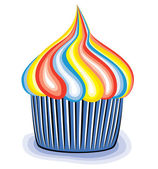 Vecteur cupcake coloré — Vecteur