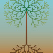 Vector abstract tree - Stock Vector