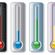 Vector set of thermometers — Stock Vector #8821136