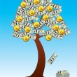 Vector money tree — Stock Vector