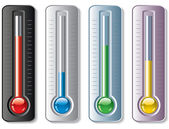 Vector set of thermometers — Stock Vector