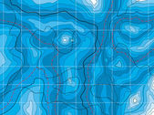 Carte bleu abstrait de vecteur avec aucun nom — Vecteur