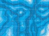 Vektor abstrakt blå karta med inga namn — Stockvektor