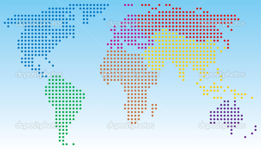 Vector abstract world map — Stock Vector #8821215