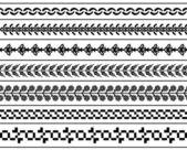 Dekorativní hranic vektoru — Stock vektor