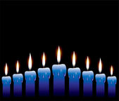 Vector row of candles — Stock Vector