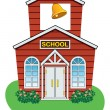 Vector country school house — Stock Vector