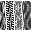 Vector detailed tire prints - Stock Vector