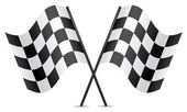 Vector racing flags — Vetorial Stock