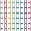 Vector set of colorful metal chains — Stock vektor