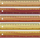Vector set of wooden rulers — Stock Vector
