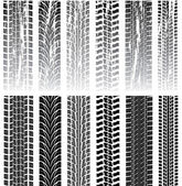 Vector set of tire prints — Stock Vector