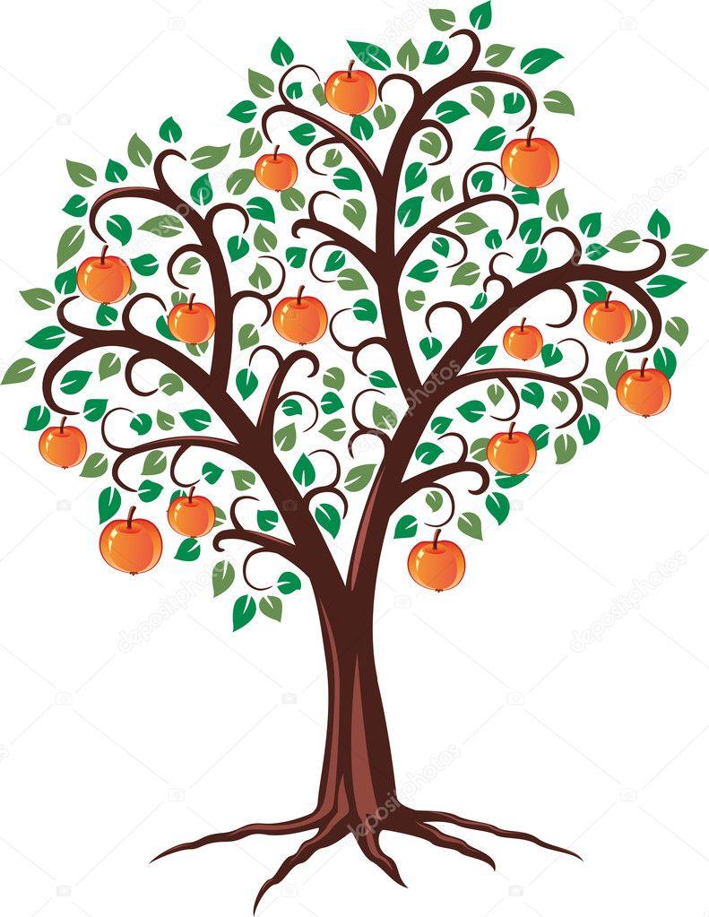 矢量苹果树 — 图库矢量图像08